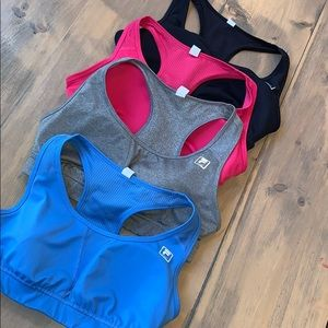 FILA sports bra size L bundle